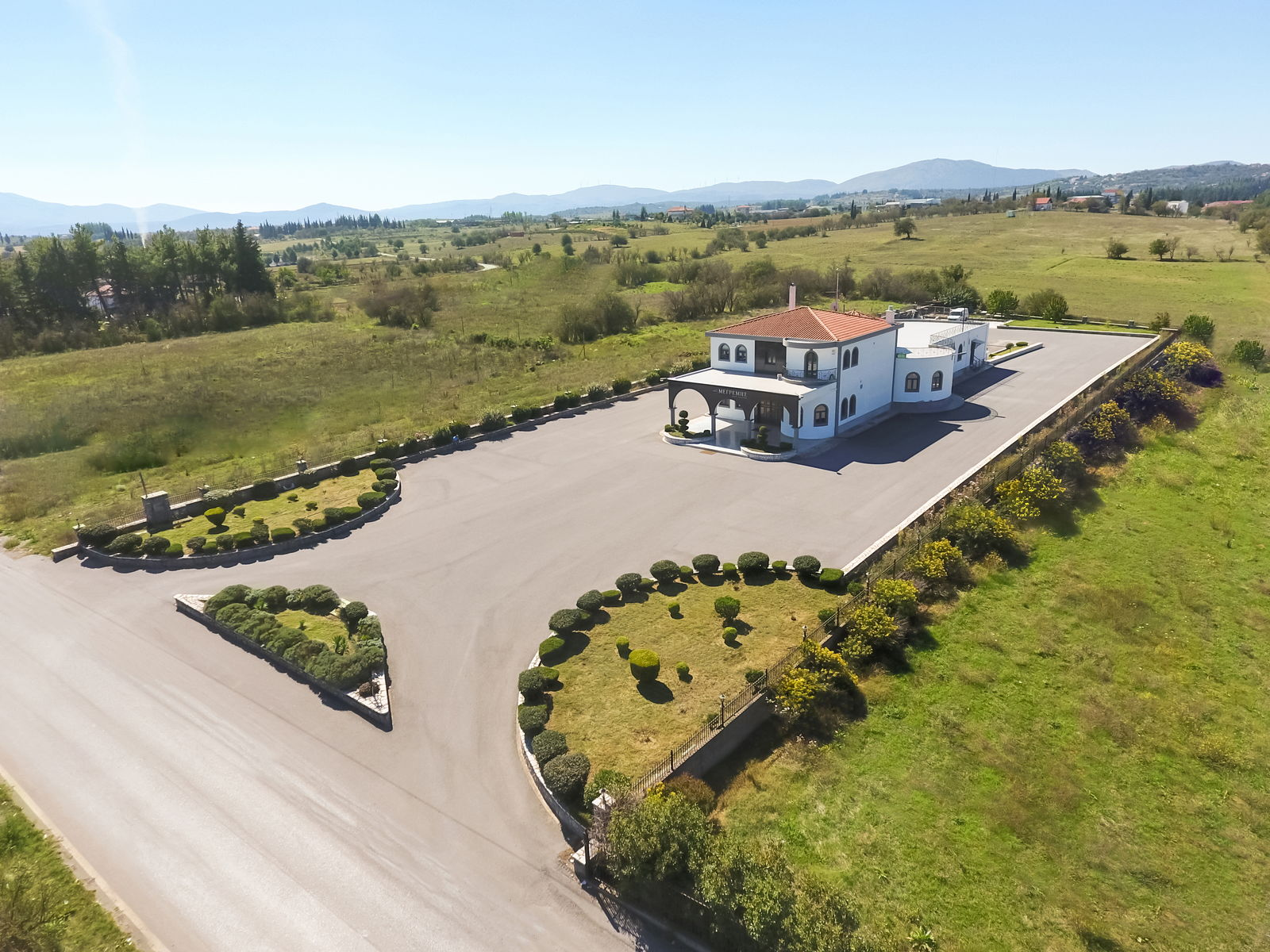 Funeral Home Megremis - Aerial View